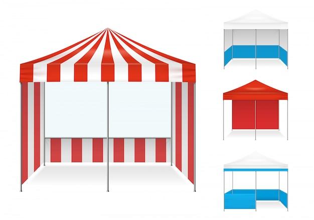 Namiot przykłady realistyczny zestaw Darmowych Wektorów