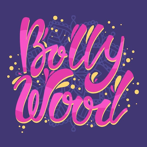 Napis Bollywood Z Tłem Mandali Darmowych Wektorów