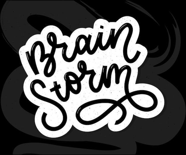 Napis burzy mózgów Premium Wektorów