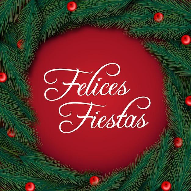 Napis Felices Fiestas Darmowych Wektorów