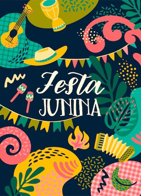 Napis Festa Junina Premium Wektorów