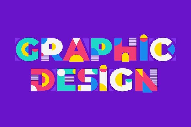 Napis Graficzny W Stylu Geometrycznym Premium Wektorów