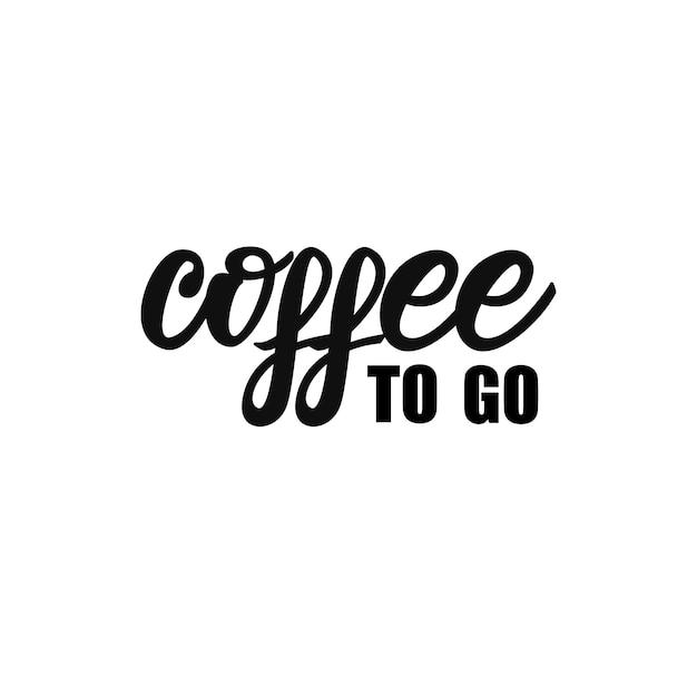Napis Na Kawę Premium Wektorów