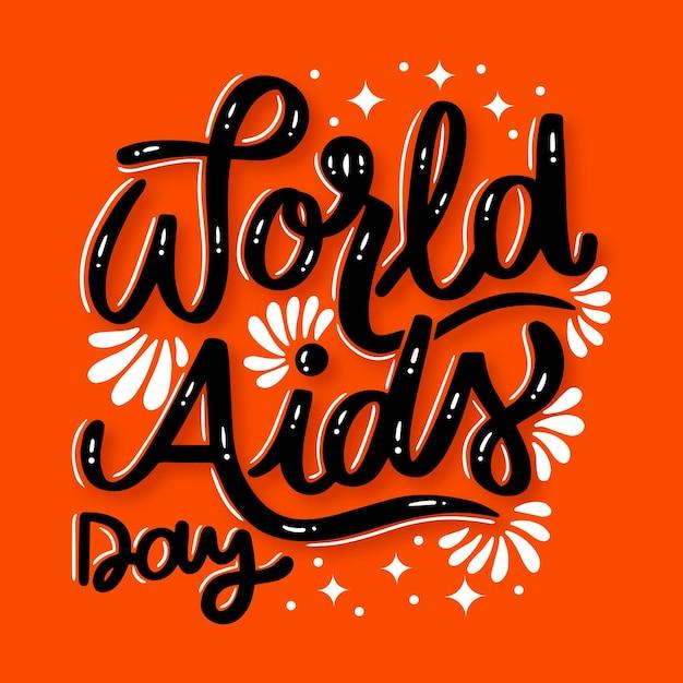 Napis Na światowym Dniu Pomocy Darmowych Wektorów