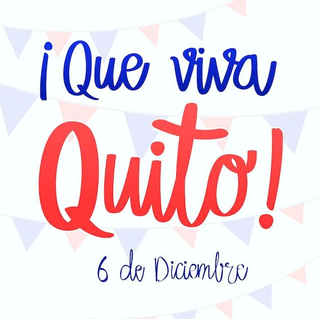 Napis Que Viva Quito Darmowych Wektorów