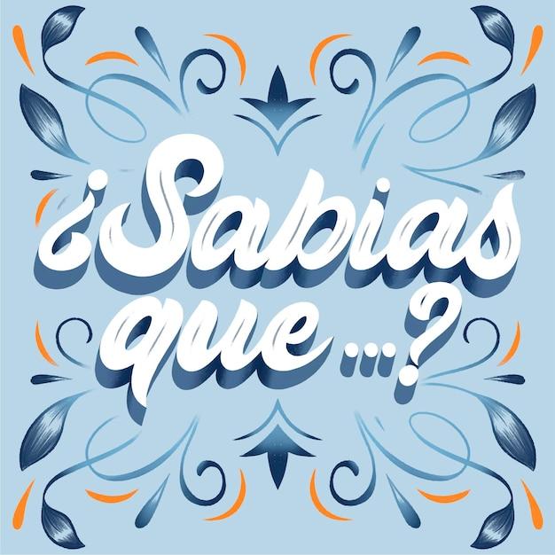 Napis Sabias Que Darmowych Wektorów