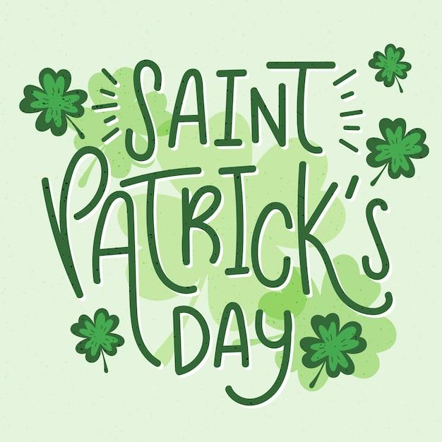 Napis St. Koncepcja Patricks Day Darmowych Wektorów