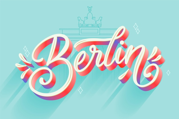 Napis W Berlinie Darmowych Wektorów