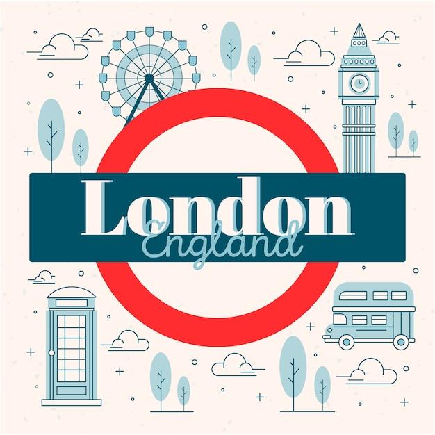 Napis W Mieście Londyn Darmowych Wektorów