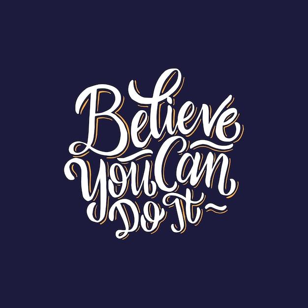 Napisy Typografia Plakaty Cytaty Motywacyjne Wierz że Możesz To