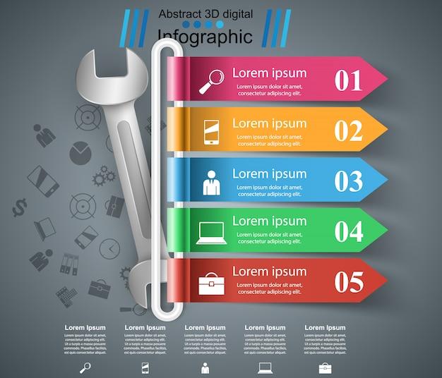 Naprawa infografika Premium Wektorów