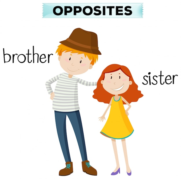Naprzeciw słowa dla brata i siostry Darmowych Wektorów