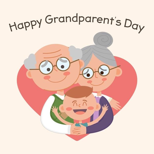 Narodowy Dzień Dziadków Darmowych Wektorów