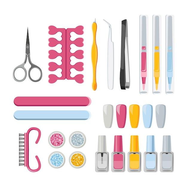 Narzędzia Do Manicure Darmowych Wektorów
