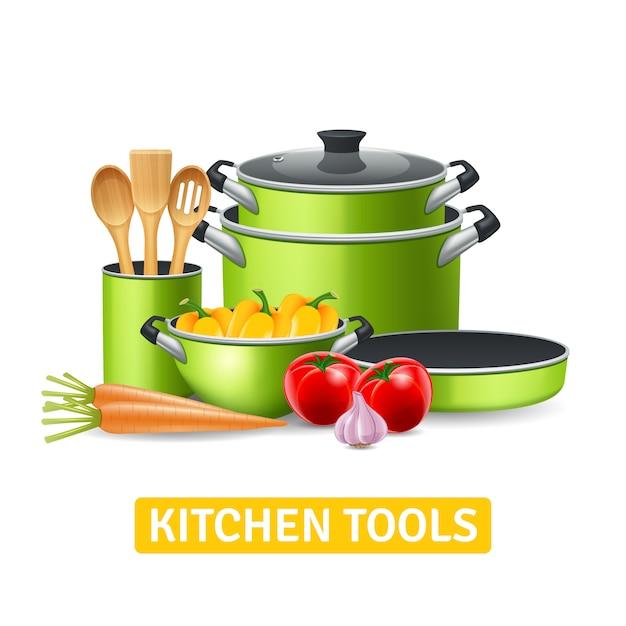 Narzędzia Kuchenne Z Warzywami Darmowych Wektorów