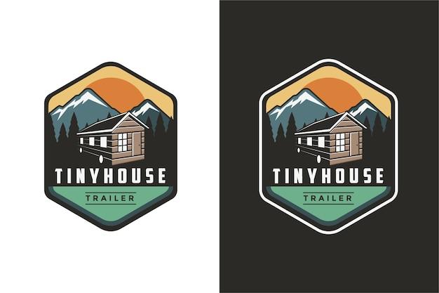 Naszywka Z Emblematem Naszywka Mały Dom Ilustracja Logo Premium Wektorów