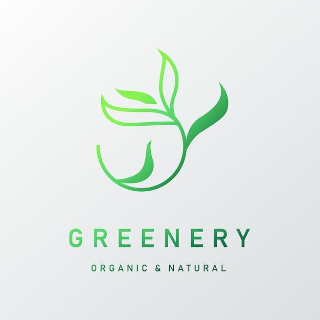 Naturalne Logo Dla Brandingu I Identyfikacji Wizualnej Darmowych Wektorów