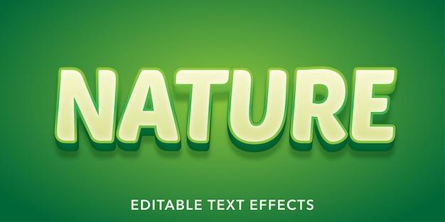 Nature Text 3d Style Edytowalny Efekt Tekstowy Premium Wektorów