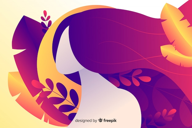 Natury tło z kolorowymi liśćmi Darmowych Wektorów
