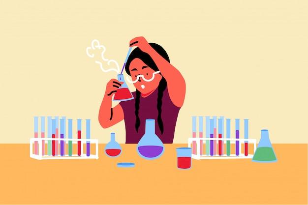 Nauka, Chemia, Edukacja, Koncepcja Studiów Premium Wektorów