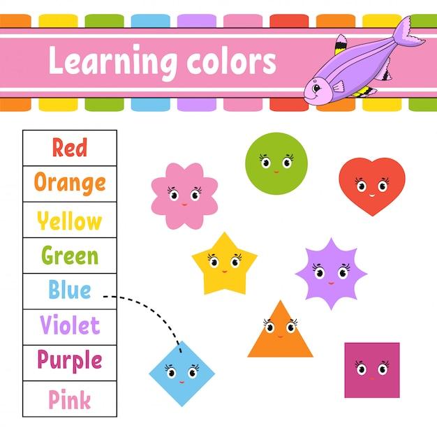 Nauka kolorów. Premium Wektorów