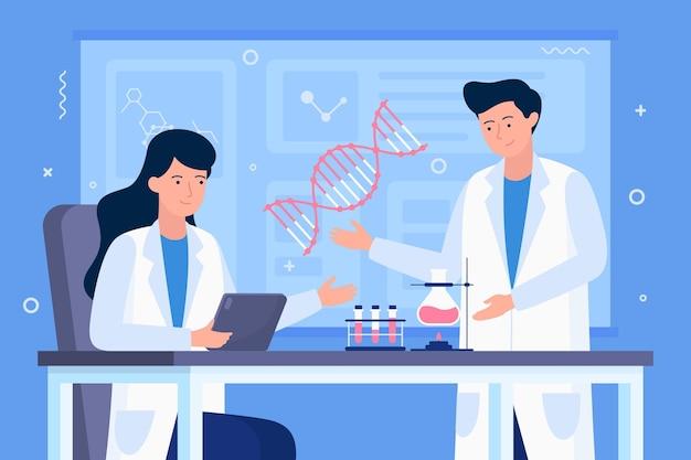 Naukowcy Posiadający Cząsteczki Dna Darmowych Wektorów