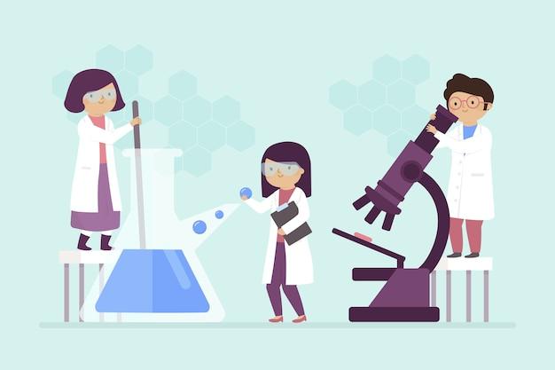 Naukowcy Pracujący W Laboratorium Darmowych Wektorów