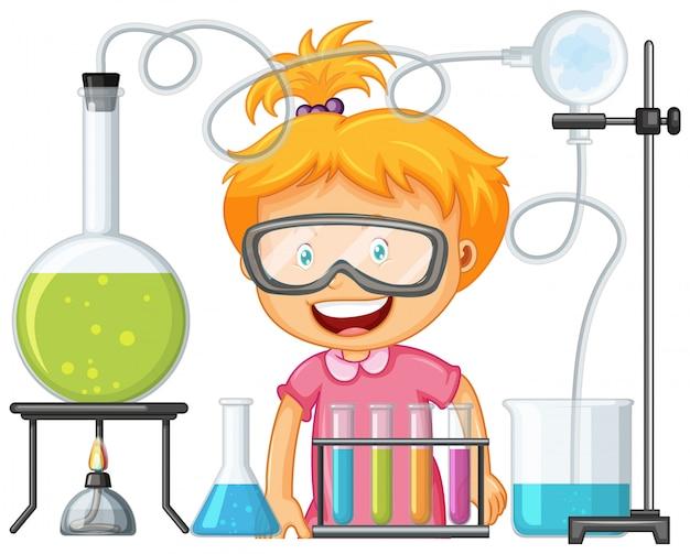Naukowiec pracujący z narzędzi naukowych w laboratorium Darmowych Wektorów