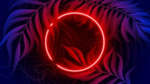 Neon Light Banner W Ilustracja Koncepcja Fluorescencyjnego Koloru Premium Wektorów