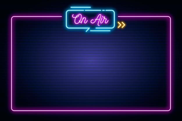 Neon Na Ramie Powietrza Darmowych Wektorów
