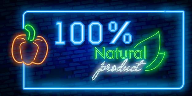 Neon Transparent Produktów Naturalnych Premium Wektorów