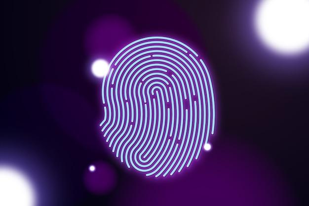 Neonowy odcisk palca Darmowych Wektorów