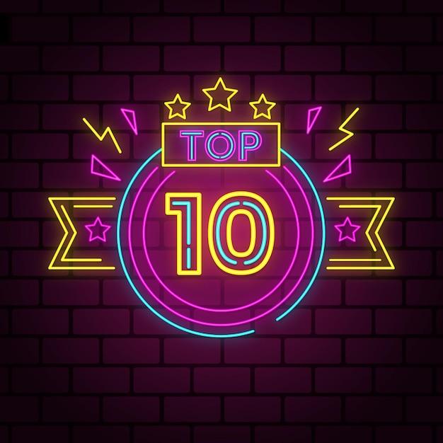 Neony 10 Najlepszych Koncepcji Darmowych Wektorów
