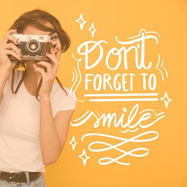 Nie Zapomnij Uśmiechnąć Się Do Liter Darmowych Wektorów