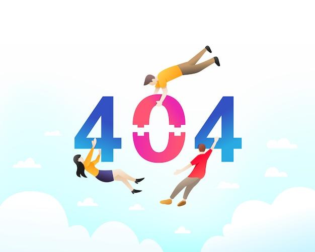 Nie znaleziono strony błędu 404 Premium Wektorów