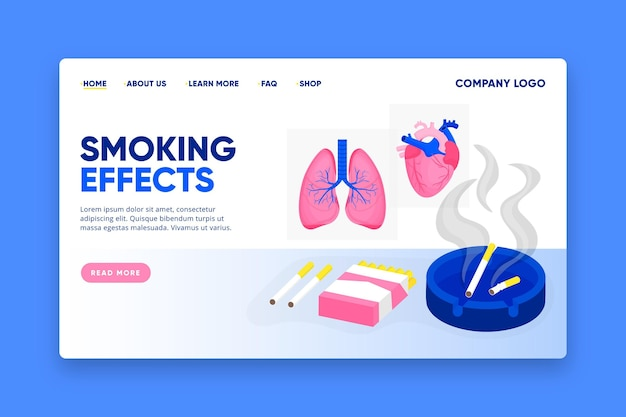 Niebezpieczeństwo Palenia - Strona Docelowa Darmowych Wektorów