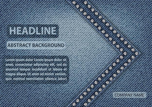 Niebieska dżinsowa tekstura Premium Wektorów