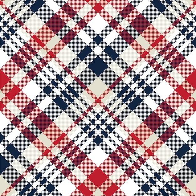 Niebieska I Beżowa Tkanina Tekstura Przekątna Mały Wzór Bez Szwu Premium Wektorów