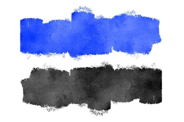 Niebieska i czarna akwarela tekstury Darmowych Wektorów