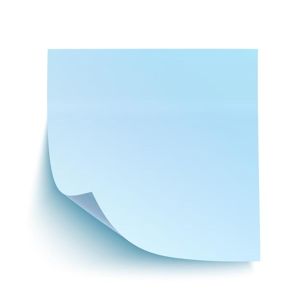 Niebieska Karteczka. Premium Wektorów
