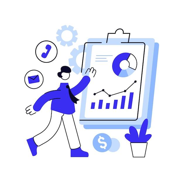 Niebieska Linia Ilustracja Biznesu Premium Wektorów