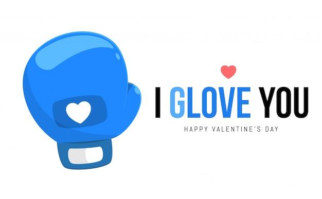 Niebieska Rękawiczka Premium Wektorów
