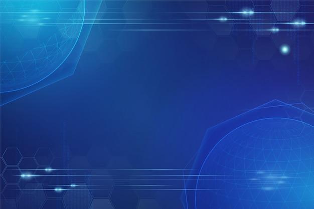 Niebieska Tapeta Futurystyczna Technologia Darmowych Wektorów