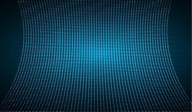 Niebieski Ekran Kinowy Led Do Prezentacji Filmów. Premium Wektorów