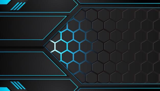 Niebieski i czarny abstrakcyjne tła biznesowych Premium Wektorów