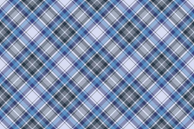 Niebieski Kratę Kratę Wzór Tkaniny Kratka Premium Wektorów