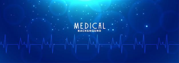 Niebieski Sztandar Opieki Zdrowotnej I Nauk Medycznych Darmowych Wektorów