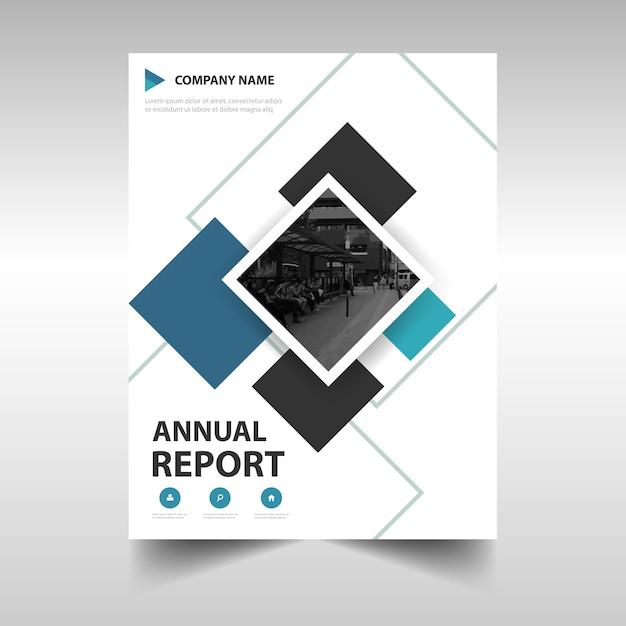 Niebieski twórczy roczny raport szablonu książki Darmowych Wektorów
