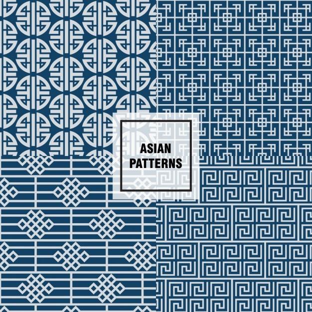 Niebieski Wzór Azjatycki Wzory Darmowych Wektorów