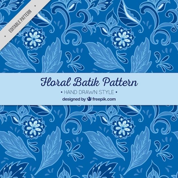 Niebieski wzór z kwiatów i liści Darmowych Wektorów